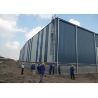 Buy cheap 100 * 45 * 12m Steel Structure Workshop Pvc Window 143tons Easy Installation from wholesalers