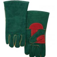 Buy cheap New heat resistant welding glove with CE/ CE Chinese supplier industrial leather hand gloves and welding glove from wholesalers