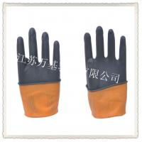 Buy cheap 70g industrial latex gloves / black and orange industrial latex glove from wholesalers
