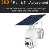 Buy cheap CCTV Security IP Camera White Waterproof 4G Solar Camera from wholesalers