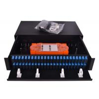 Buy cheap Slim 1U Fiber Optic Patch Panel 96 Cores Sliding Open SC Type For LAN / WAN from wholesalers