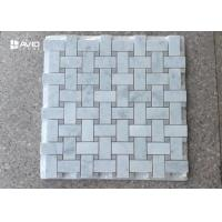 Buy cheap Rectangle and small square carrara marble mosaic tile assorted natural color from wholesalers