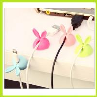 Buy cheap cute rabbit silicone holder of cable drop clip from wholesalers