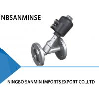 Buy cheap Professional PV 400 Pneumatic Angle Seat Valve High Effective Sealing With Flange from wholesalers