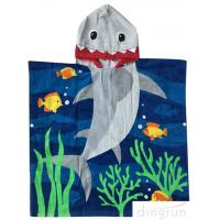 Buy cheap 60 X 120cm Children ' S Poncho Beach Towels Soft Feeling With Cotton Material from wholesalers