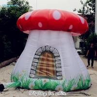 Buy cheap 3m Height Inflatable Mushroom House with Blower for Kids and Adults from Wholesalers