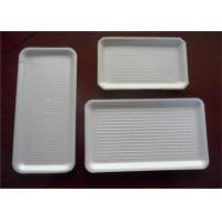 Buy cheap White Small Hard Plastic Packaging Trays Seal Lid Fish For Meat Packaging from wholesalers