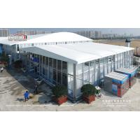 China Fire Retardant Outdoor Exhibition Tents , Cinema Movie Tent Structure With Glass Walls And Inflatable Roof on sale