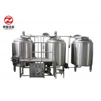 Buy cheap PLC / Manual Micro Beer Brewing Equipment 500l Capacity With CIP Cleaning System from wholesalers