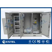 Buy cheap Four Doors Network Enclosure Cabinet IP55 Three Compartment Air Conditioner Cooling product