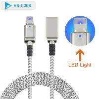 Buy cheap IPhone 7 6 5 6s Plus Led Light USB Cable Male To 8 Pin Male Lightweight Portable from wholesalers