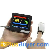 Buy cheap Portable Finger Pulse Oximeter + Heart Rate Monitor - 3.5 Inch Touchscreen from wholesalers