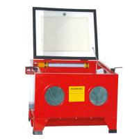Buy cheap 90L Bench Top Steel Blast Cabinet from wholesalers
