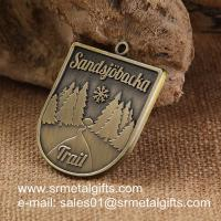 Buy cheap Vintage brass metal engraved medals, tailored antique brass metal medallions from wholesalers