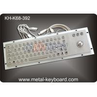 Vandal Resistant Industrial Computer Keyboard with trackball , water resistant keyboard Metal