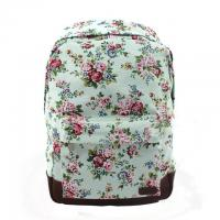 Buy cheap Classic Custom Canvas Backpacks / Floral School Bags Korea Style product