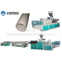 Buy cheap Profile Twin Screw PVC Pipe Extrusion Line , Plastic Tube Making Machine Low Noise from wholesalers
