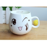 Buy cheap 9cmx8.5cm Restaurant Stoneware Personalised Ceramic Mugs product