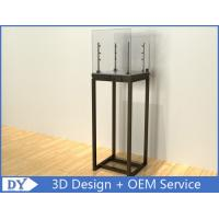 Buy cheap Black Glass Square lighted Jewelry Display Cases / Jewellery Shop Display Cabinets product