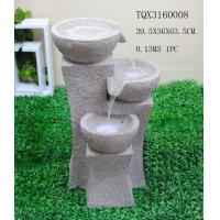 Buy cheap Grey Garden Polyresin Water Fountain With Stone Effect 39 X 36.5 X 63.5 Cm from wholesalers