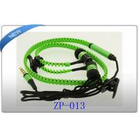 Buy cheap Green Metal In Ear Zipper Earphone cable Mic For iPhone 5 4 Samsung S4 S3 HTC product