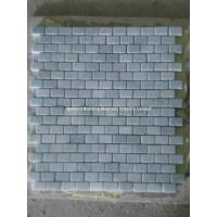 Buy cheap Light Gray Green Marble Mosaic Tiles 1.25*2.5cm from wholesalers