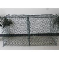 Buy cheap Green PVC Coated Gabion Mesh Basket For River Bank Protection from wholesalers