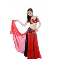 Buy cheap Layered flower bellydance costume with shinning diamonds colorful from wholesalers