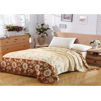 Buy cheap Floral Pattern Flannel Fleece Blanket Single Layer With Machine Made Fold Border 1cm Technics from wholesalers
