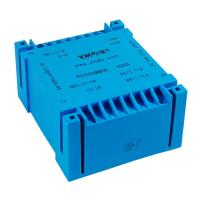 Buy cheap Low height transformer PU3908BW 10VA double 110V/double 12V flat type pcb transformer product