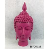Buy cheap Resin buddha/ color buddha statue/polyresin statue of buddha/rose red/buddha head from wholesalers
