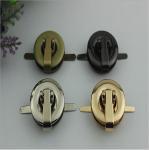 Buy cheap Novelty zipper puller decorative round shape gunmetal color purse twist lock turn lock from wholesalers