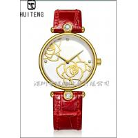 Buy cheap 18K gold watch Gold watch Gold watch Leather strap watch The gold watch case Real gold watch from wholesalers