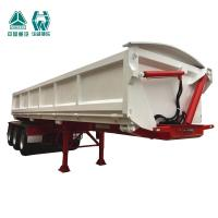 Buy cheap Large Capacity Chassis Tipper Trailer / Steel Body Tipping Trailer 24 Cbm from wholesalers
