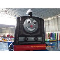 Buy cheap Train Shape Inflatable Air Bouncer Printing Art Panel For Business Hire from wholesalers