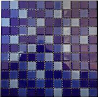 Buy cheap Mixed Color Blue Swimming Pool Mosaic tile from wholesalers