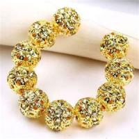 Buy cheap Gold Metal Alloy beads Jewelry and Clear Crystal beads Rhinestone Bracelets MIM0111 from wholesalers