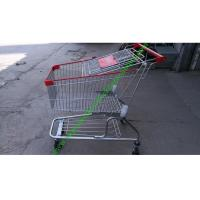 Buy cheap 150 Litres Wire Shopping Trolley For Mall , American Style Steel Hand Push Cart from wholesalers