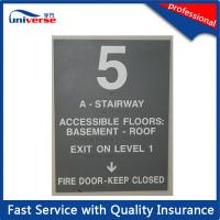 Buy cheap PP / ABS / PVC Basement Caution Engraved Plastic Signs With Customized Printing from wholesalers