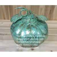 Buy cheap Christmas decorations decorative metal pumpkin decoration from wholesalers