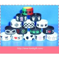 Customed Flexible Silicone Rubber finger Ring with alphabet