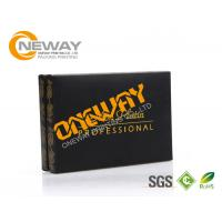 Buy cheap OEM Delicate Foldable Custom Printed Gift Boxes Magnetic Closure Black Paper from wholesalers