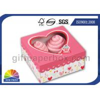 Buy cheap Custom Printing Folding Cup Cake / Dessert Paper Box with Display Window product