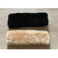 Buy cheap Black Real Australian Sheepskin Seat Belt Cover Comfortable Safety For Adults from wholesalers