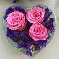 Buy cheap Transparent Acrylic Storage Box Flower Container Gift Luxury Packaging Heart Shaped from wholesalers