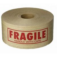 Buy cheap Reinforced Water Activated Custom Printed Kraft Paper Gummed Tape,Conventional Brown/White Kraft Paper Filament Sticker from wholesalers