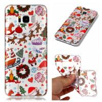 China IMD Custom Print Nature Clear TPU Christmas Designs Phone Case For Samsung Galaxy S8 on sale