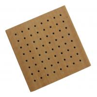 Buy cheap Decorative Studio Room Perforated Wood Acoustic Panels , Sound Absorbing Board from wholesalers