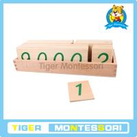 Buy cheap Montessori math materials,wooden toys,Large Wooden Number Cards With Box (1-9000) from wholesalers