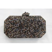 Buy cheap Bling Luxury Mixed Color Mesh Evening Bags With Crystal Leopard Closure from wholesalers